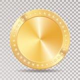 Golden gold coin star Royalty Free Stock Photos