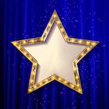 Vector blank golden star Stock Photos