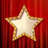 Vector blank golden star Stock Images