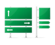 Vector Blank green Road Sign Stock Photo