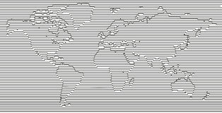 Flat Earth Vector Blank Grey Linear World Map On White Background Black And Creatabe Worldmap Template