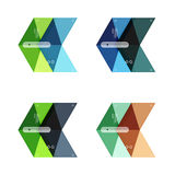 Vector blank infographic arrow templates Stock Images