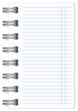 Vector blank lined notebook large spring Stock Image