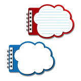 vector blank lined notebooks - speech bubbles Stock Photography