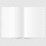 Vector blank magazine spread. Book Spread With Blank White Pages. Isolated white paper Stock Photos