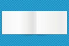 Vector blank magazine spread. Vector landscape orientation Stock Photos