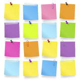 Vector of blank notes Colorful Concept Royalty Free Stock Image