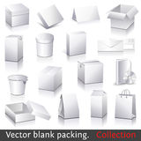 Vector blank packing collection Royalty Free Stock Photos