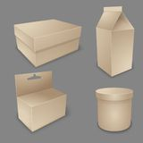 Vector blank packing collection. Royalty Free Stock Photography
