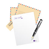 Vector blank, paper for message. Royalty Free Stock Photos