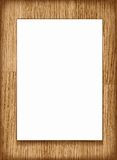 Vector blank paper A4 sheet on wooden background. Royalty Free Stock Photos