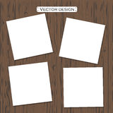 Vector blank paper template on a background Royalty Free Stock Photography
