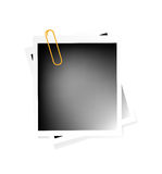 Vector blank photo Stock Image
