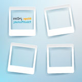 Vector Blank Photo Frames with empty space for your image. Royalty Free Stock Images