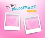 Vector Blank PhotoFrames with empty space for your image. Stock Images