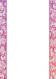 Vector blank with pink florals Stock Photography