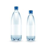 Vector Blank Plastic Blue Water Bottle Isolated Stock Image