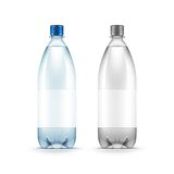 Vector Blank Plastic Blue Water Bottle Isolated. On White Background Royalty Free Stock Photo