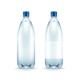 Vector Blank Plastic Blue Water Bottle Isolated. On White Background Royalty Free Stock Photos