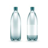 Vector Blank Plastic Blue Water Bottle Isolated. On White Background Stock Photo