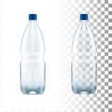Vector blank plastic blue water bottle transparent. Eps10 vector Royalty Free Stock Photos