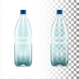 Vector blank plastic blue water bottle transparent. Eps10 vector Royalty Free Stock Images