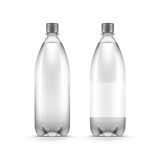 Vector Blank Plastic Water Bottle Isolated Stock Images