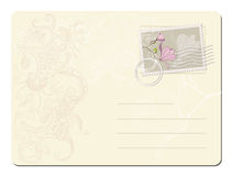 Vector blank post stamp with magnolia.  Stock Photos