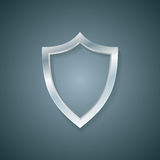 Vector blank profile shield. Defense icon. Protection concept. Royalty Free Stock Photography
