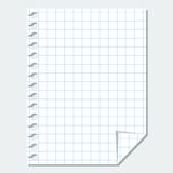 Vector blank sheet of paper Royalty Free Stock Photo