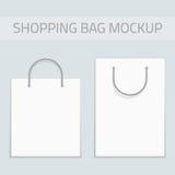 Vector blank shopping bag mockup. Royalty Free Stock Images