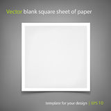 Vector blank square sheet of paper. Template for your design Stock Photo