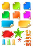 Vector blank stickers Royalty Free Stock Photo