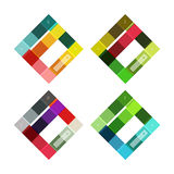 Vector blank stripes and lines infographics templates Stock Image