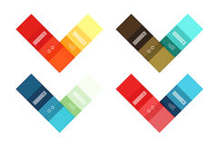 Vector blank stripes and lines infographics templates Royalty Free Stock Photos