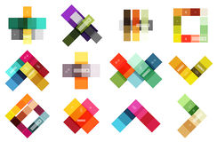 Vector blank stripes and lines infographics templates Royalty Free Stock Image