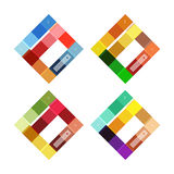 Vector blank stripes and lines infographics templates Stock Photo