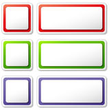 Vector blank tags icons Stock Photography