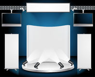Vector Blank trade exhibition stand Stock Image