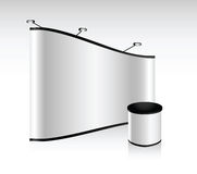 Vector blank trade show booth. For designers and advertising Stock Image