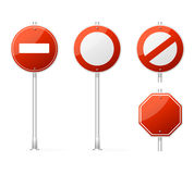 Vector Blank Traffic Sign red Royalty Free Stock Images
