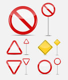 Vector Blank Traffic Sign Set Royalty Free Stock Photography