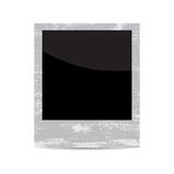 Vector blank vintage photo frame isolated on white Stock Photography