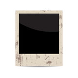 Vector blank vintage photo frame isolated on white Stock Images