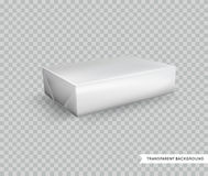 Vector Blank White Foil Food Packaging llustration Isolated Mock Stock Images