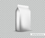Vector Blank White Foil Food Packaging llustration  Mock Royalty Free Stock Photos