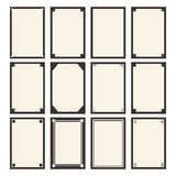 12 vector blanks. Template for your design Royalty Free Stock Photography