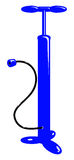 Vector blaue Luftpumpe des Fahrrades Lizenzfreies Stockfoto