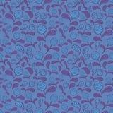 Vector blauw bosbessen naadloos patroon vector illustratie