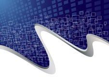 Vector blauw collectief malplaatje Stock Foto